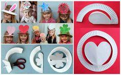 DIY Party Hats From Plastic Plates | www.FabArtDIY.com LIKE Us on Facebook ==> https://www.facebook.com/FabArtDIY