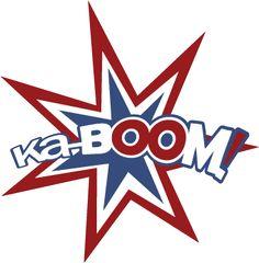 KaBoom Caption SVG File