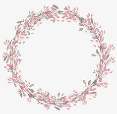 Hand-painted watercolor flower round, Watercolor, Flower, Hand Painted PNG Image and Clipart Frame Floral, Flower Frame, Wreath Watercolor, Watercolor Flowers, Pink Glitter Background, Flower Graphic Design, Wreath Drawing, Flower Clipart, Art Clipart
