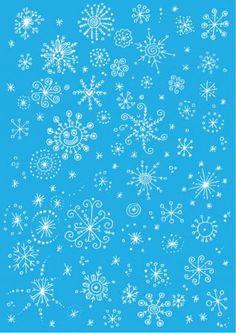 Snowflake Scrapbook Paper - Light