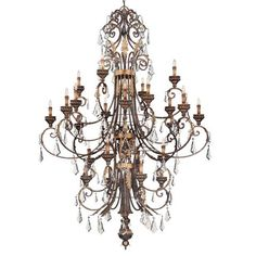 Metropolitan® Family Collection - Twenty-four Light Chandelier - Twenty-four Light Chandelier in Windsor Rust™ with Bronze Accents Finish and Clear Crystals.