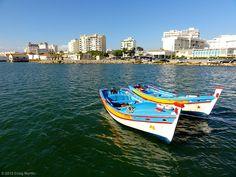 Traditional boat tour in Faro Portugal