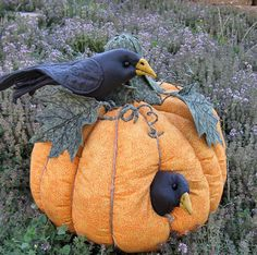 Super cute from ETSY Site  http://www.etsy.com/listing/51859400/pumpkin-crows-fabric-sculpture?utm_source=OpenGraph_medium=PageTools_campaign=Share