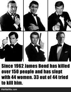 James Bond - Favorites are Sean Connery, Pierce Brosnan, and Daniel Craig. James Bond Party, James Bond Movies, All James Bond Actors, Q James Bond, James Bond Theme, Roger Moore, Sean Connery, Daniel Craig, Estilo James Bond