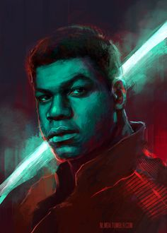"""nlmda: """" Here's a long overdue piece of Star Wars fan art, I finally had time to finish. I already painted John Boyega as Finn, but wasn't quite happy with the result, so a proper redo was in order. Plus now it matches my other SW character's..."""