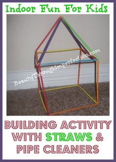 So fun! I love how it works for any age! Fine motor skills for little ones and architecture learning for older ones, all my kiddos can play this together!