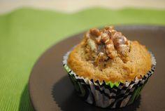 Muffin integral de espelta y banana/ Banana Vollkorn Dinkel Muffin Muffin, Healthy Eating, Breakfast, Food, Morning Coffee, Muffins, Meal, Essen, Hoods