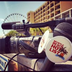 """The #TBA Video Team on location filming the """"Hot List"""" for MyrtleBeachHotels.com!"""