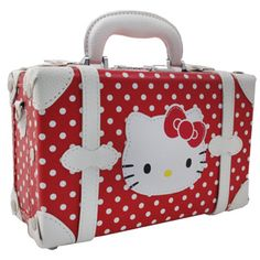 Vanity bag--When she comes to nanny's house.or just to hold all her best toys--LTC Hello Kitty Purse, Hello Kitty Items, Casual Cosplay, Pretty Cats, Cute Cats, Hello Kitty Merchandise, Hello Kitty Imagenes, Wonderful Day, Vanity Bag