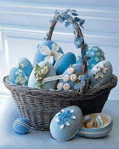 Pretty Blue Easter Eggs....