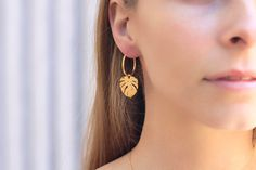 Your place to buy and sell all things handmade Dainty Earrings, Leaf Earrings, Silver Hoop Earrings, Bridal Earrings, Statement Earrings, Minimalist Earrings, Minimalist Jewelry, Birthday Gifts For Her, Lucky Charm
