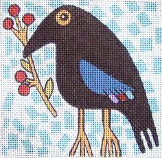 Bird Needlepoint canvas