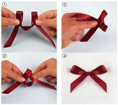 Tie bows that will have the right side showing on both sides - works great for those polka dot grossgrain ribbons