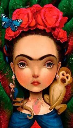 frida kahlo bastidor en canvas de 90x50 cm  envio s/c caba