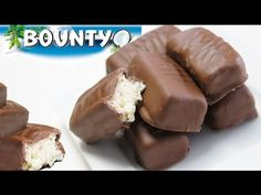 CHOCOLATE BOUNTY CASERO SOLO CUATRO INGREDIENTES! #390 # - YouTube