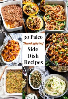 Low Unwanted Fat Cooking For Weightloss These 30 Paleo Thanksgiving Side Dishes Are Sure To Make Everyone At Your Table Happy This Year From Sweet To Savory And Everything In Between, These Side Dishes Are Super Tasty And Comforting To The Max. Paleo Side Dishes, Side Dish Recipes, Food Dishes, Paleo Thanksgiving, Thanksgiving Side Dishes, Paleo Recipes, Whole Food Recipes, Paleo Food, Rice Recipes