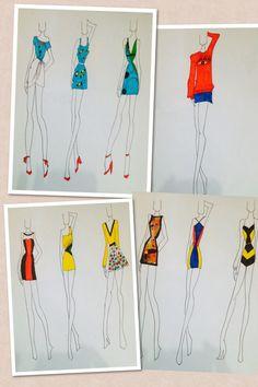 Inspirado em Joan Miró #moda #croqui #inspiração #surrealista #facomoda