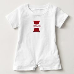 HAMbWG  Romper w Red Logo Design - shower gifts diy customize creative