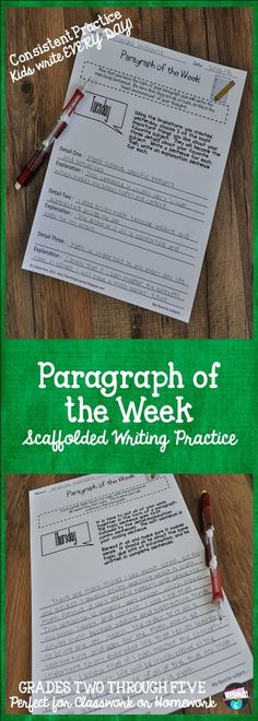 Paragraph of the Week. Wow! What a jam-packed QUALITY resource! There's so much that I love about it. The instructions for use are very clear and I'll use the example pages to guide me in knowing what the work might look like. The repetition will serve to firmly reinforce what students are to do so that there is no question on the students' part. Also, the rubric is very explicit so students know what is expected. Pardon my gush, but I love this resource!