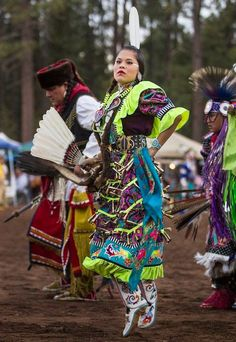 "blue-cattleya: ""Navajo Jingle-dress dancer Yanabah Redhouse dances during the Annual Pow Wow in in Pinetop, Ariz. (Photography by Diego James Robles) """