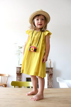 Yellow dress...