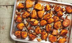 Yotam Ottolenghi's harissa and confit garlic roast potatoes.  https://www.theguardian.com/lifeandstyle/2017/may/27/potato-recipes-harissa-roast-salt-cod-fishcakes-new-spring-onion-peas-yotam-ottolenghi
