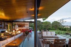 This hillside home has remarkable panoramic views of the Brazilian countryside