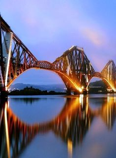 Forth Bridge Scotland  Cantilever.  One of the worlds most recognisable and iconic bridges