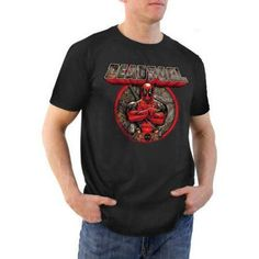 Deadpool Realtree Logo Big Men's Graphic Tee, Size: 2XL, Black