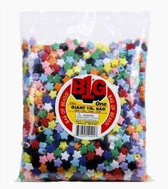 Giant 1Lb Multi Color Pony Beads-Stars, , hi-res