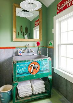 Vintage Decor Ideas Uncommon vintage pieces take on new life and purpose in this Minnesota summer home for an energetic family of seven. - Uncommon vintage pieces take on new life and purpose in this Minnesota summer home for an energetic family of seven. Retro Home Decor, Vintage Decor, Vintage Sink, Vintage Ideas, Vintage Stuff, Retro Vintage, Minnesota, Deco Retro, Bathroom Inspiration