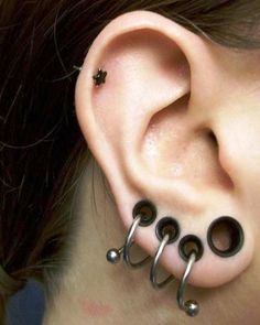 An ear piercing instrument (commonly referred to as a piercing gun or an ear piercing gun) is a device designed to pierce earlobes by driving a pointed starter earring through the lobe. Piercing guns may be reusable or disposable. Piercing guns are typically used in mall jewelry shops.