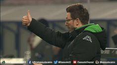 Filmato su football soccer team ok coach calcio serie a mister sassuolo u.s. sassuolo calcio neroverdi allenatore eusebio di francesco di francesco via diggita #SerieA