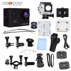 71.55$  Watch here - http://aliao3.worldwells.pw/go.php?t=32771796639 - Action Camera SOOCOO C30R 4K Wifi Viewing angles 170 Degrees mini cam 2.0 LCD NTK96660 30M go Waterproof pro Camera underwater 71.55$