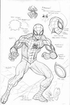 Superior Spider-Man Suit - Spider-Man Wiki - Peter Parker, Marvel Comics, Amazing Spiderman - Visit to grab an amazing super hero shirt now on sale! Amazing Spiderman, The Superior Spider Man, Spiderman Kunst, Spiderman Drawing, How To Draw Spiderman, Spiderman Sketches, Marvel Avengers, Marvel Comics Art, Spiderman Marvel