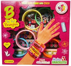 Arts and Crafts For Girls - Best Birthday/Christmas Gifts/Toys/DIY Kit For Girls - Premium Stick and Style Bracelet (Jewelry) Kit with 275 colorful stickers and 5 blingles