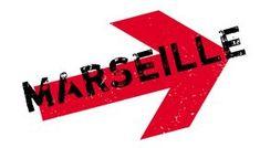 Sello de goma de Marsella Fotografía de archivo libre de regalías