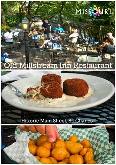 Old Millstream Inn Restaurant and Beer Garden is the perfect place to relax in the good weather and enjoy some exceptional food. You have to try their famous Millfries (bottom photo in pin). Located on Historic Main Street in St. Charles.