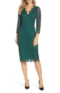 d16a54362502 Harper Rose Lace Sheath Dress (Petite & Regular) | Nordstrom. Emerald Green  ...