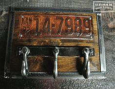 License Plate & Tow Hook Coat Rack industrial-wall-hooks by Urban Wood & Steel