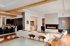 #openplan #livingroom #kitchen | GDW/a pllc - Mercer Island Residence