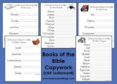 Old Testament Books of the Bible Printables