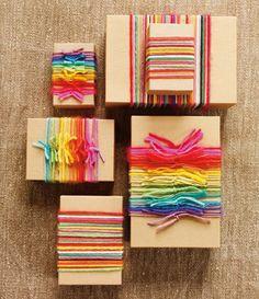 Yarn gift wrapping diy craft craft ideas yarn diy ideas diy crafts do it yourself crafty gift wrapping yarn diy crafts no knit no knit crafts