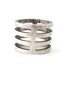 Buch + Deichmann, Denmark sterling silver ladder ring..
