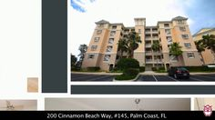 Gorgeous 4th floor ocean/golf view condo at Cinnamon Beach with unparalleled prestige and luxury in a resort and spa style community offering the best amenities money can buy.  $450,000.  200 Cinnamon Beach Way, #145, Palm Coast, FL - RonSellsTheBeach.com - 386-871-7697.