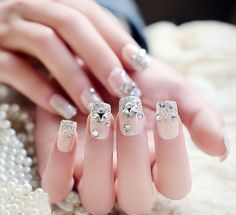 Nail Art Tutorial: Gorgeous Pink Silver Nails with and Rhinestones