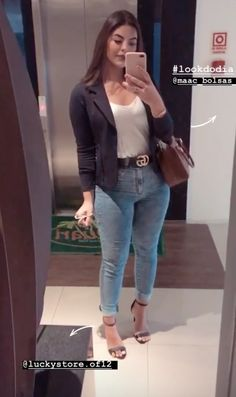 Looks Camisa Jeans, Estilo Cool, Work Looks, Ideias Fashion, Formal, Chic, Clothes, Style, Women Work Outfits