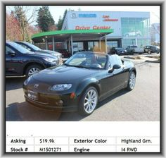 2008 Mazda MX-5 Miata Grand Touring Convertible  Center Console: Full With Locking Storage, Silver Aluminum Rims, Floor Mats: Carpet Front, Instrumentation: Low Fuel Level, Privacy Glass: Light, Glass Rear Window, Bucket Front Seats, Front Leg Room: 43.1, Tire Pressure Monitoring System, Coil Rear Spring, Vehicle Emissions: Ulev Ii, Double Wishbone Front Suspension, Suspension Class: Regular, Seatback Storage: 1, Coil Front Spring, Tachometer