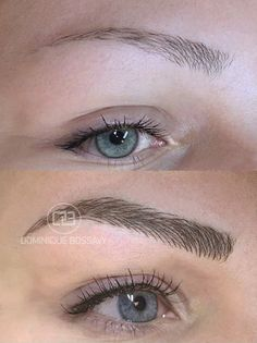 Eyebrows - After the Micro Color Infusion treatment of Dominique Bossavy, Permanent makeup Artist.