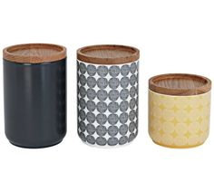Buy Sainsbury's Home Helsinki Set of 3 Storage Jars - Multi at Argos. Thousands of products for same day delivery or fast store collection. Kitchen Utensil Storage, Tea Storage, Kitchen Jars, Glass Storage Jars, Storage Canisters, Storage Sets, Kitchen Ideas, Jars For Sale, Sainsburys Home